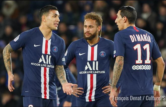 PSG stars, Neymar, Di Maria and Paredes