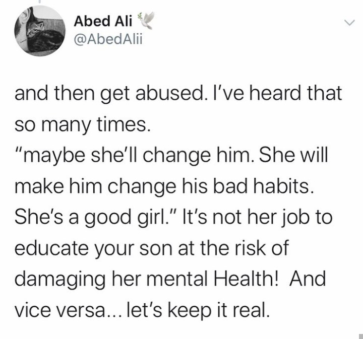 """""""The worst crime a family can do is marrying their scumbag son to an innocent girl in the hope he will miraculously change"""" Arab influencer writes"""
