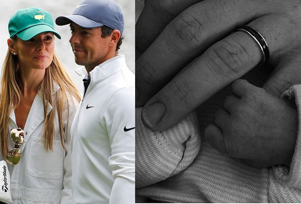Golf superstar, Rory McIlroy announces birth of his first child with wife Erica Stoll