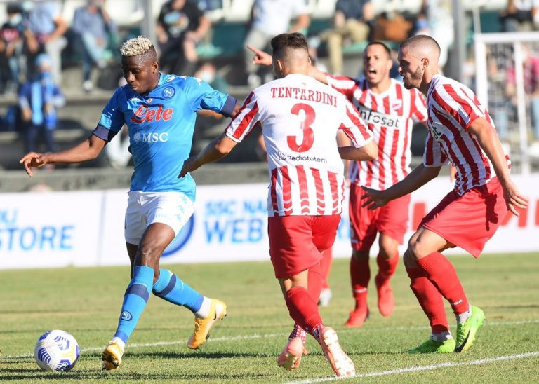 Victor Osimhen scores his second hat-trick in one week for Napoli in pre-season win