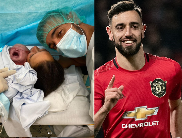 Manchester United midfielder,?Bruno Fernandes announces the birth of his second child (photos)