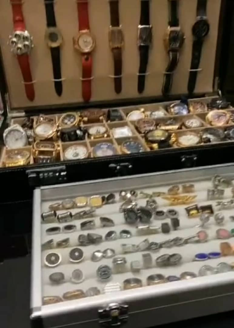 Dino Melaye shows off his expensive watches, shoes, perfumes and more as Dele Momodu takes a tour of his Abuja home (video)