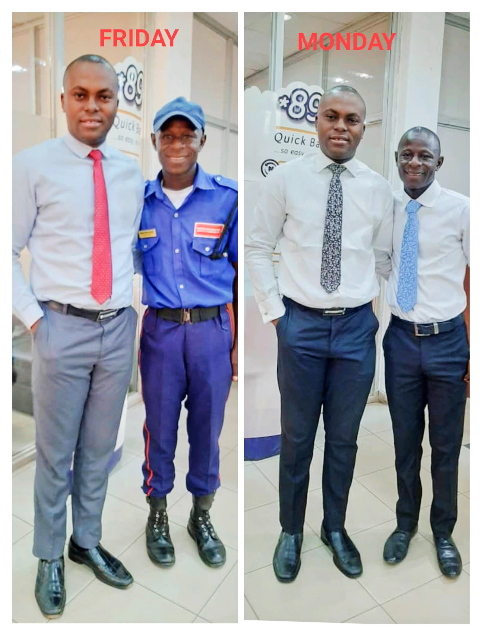 Banker narrates how he was able to help elevate a security guard to a better position in the bank
