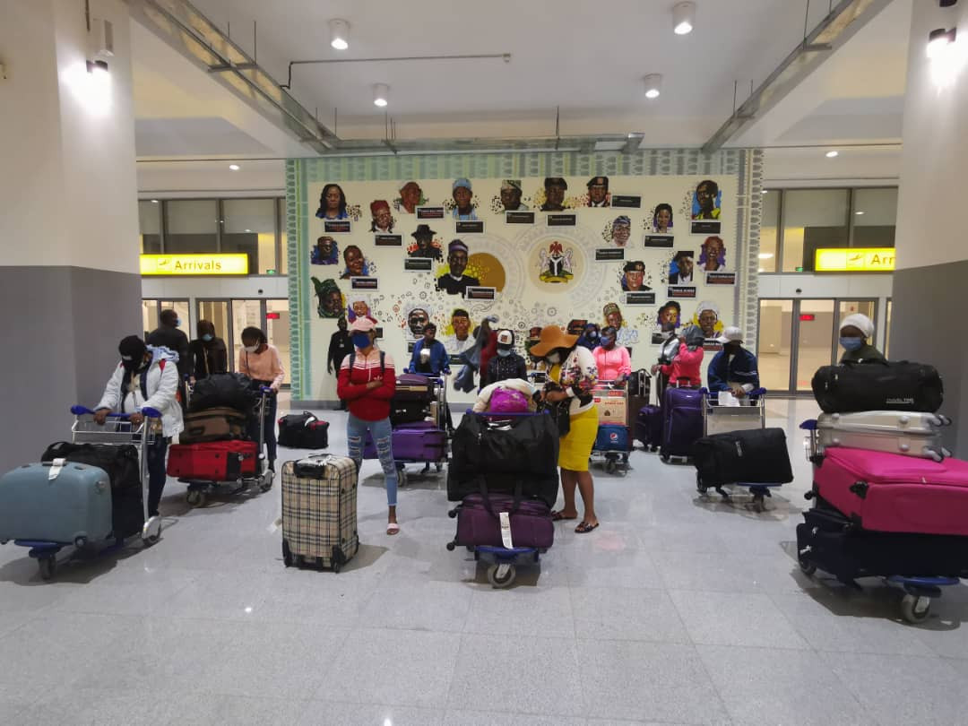 27 stranded Nigerian girls evacuated from Lebanon