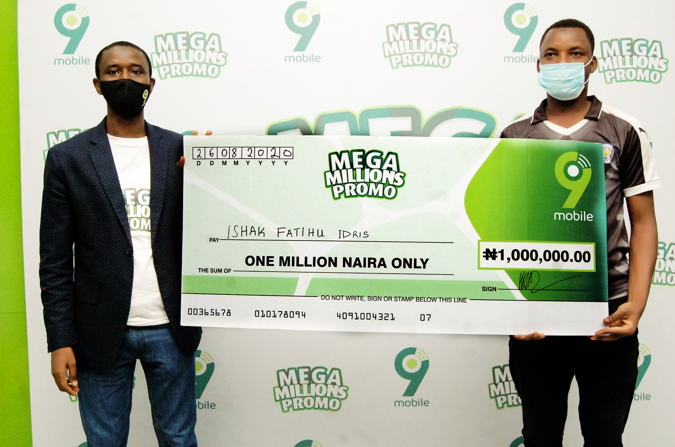 9mobile Customers to get 100% data bonus, free airtime in the ongoing Mega Millions Promo