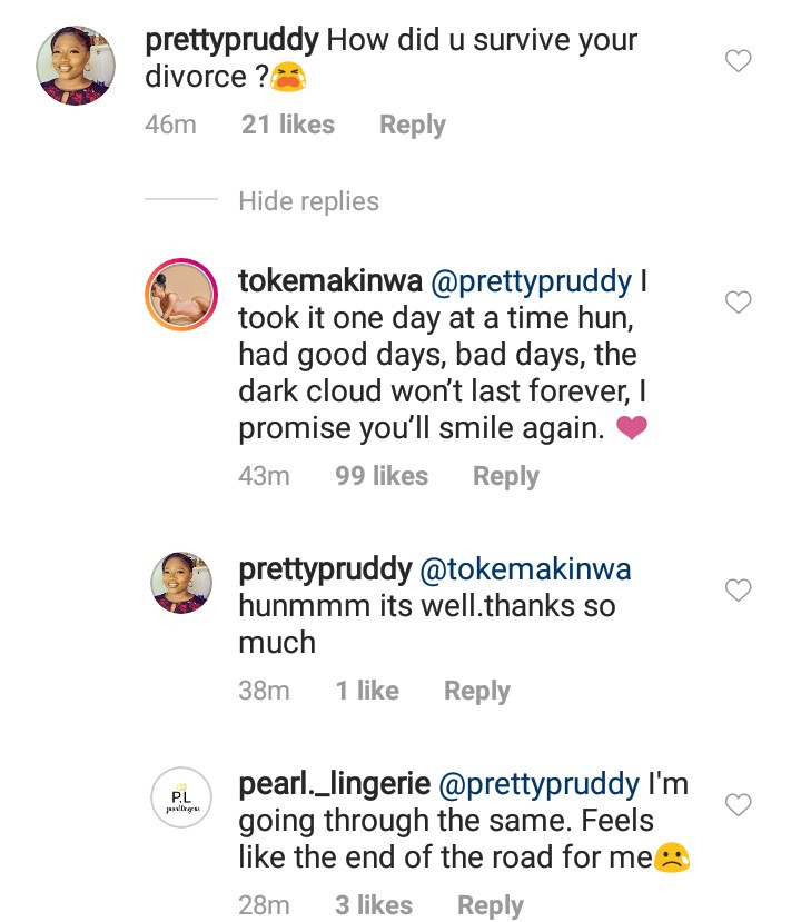 Toke Makinwa explains how she survived her divorce