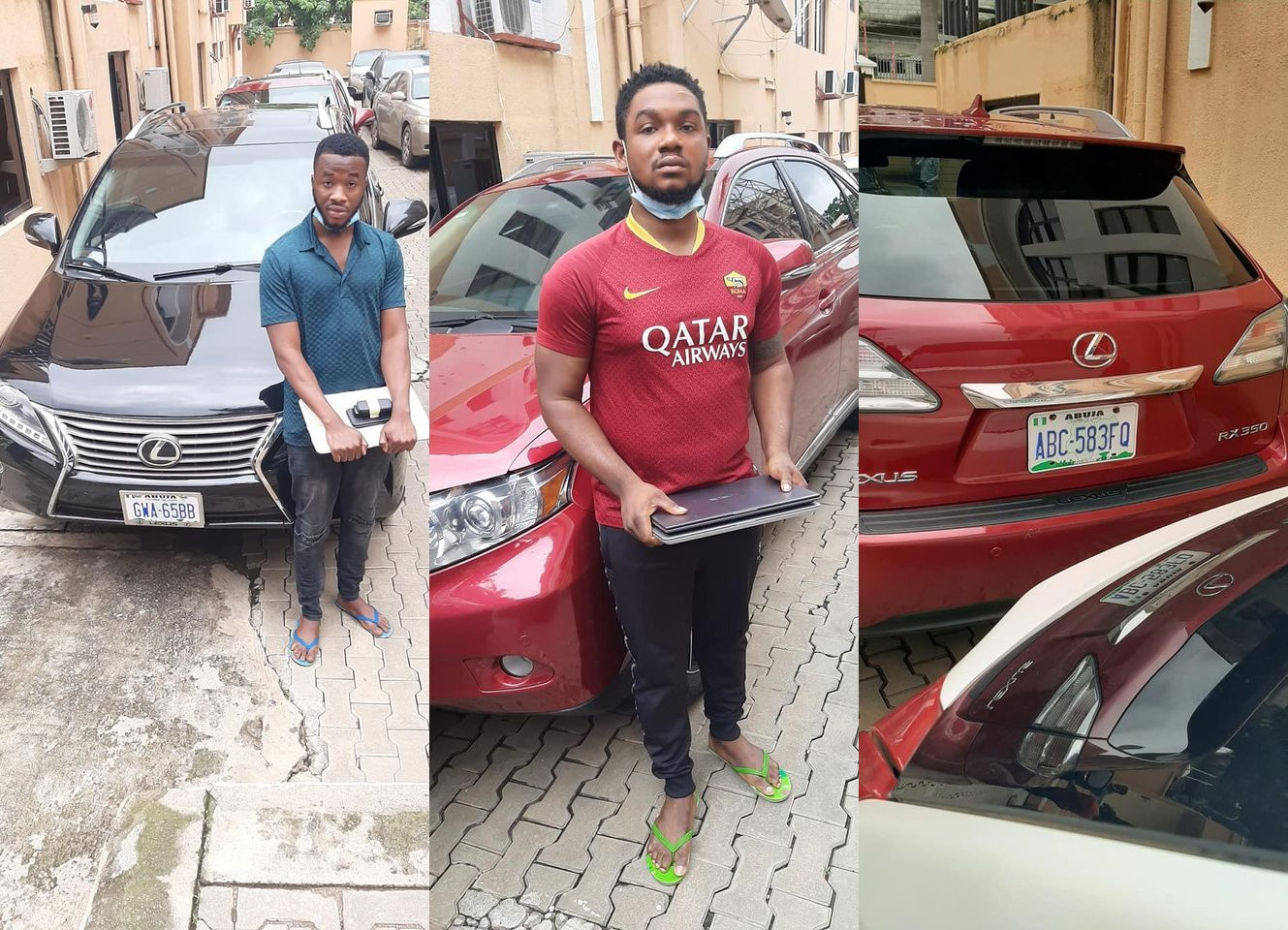 EFCC arrests three suspected Internet fraudsters in Abuja (photos)