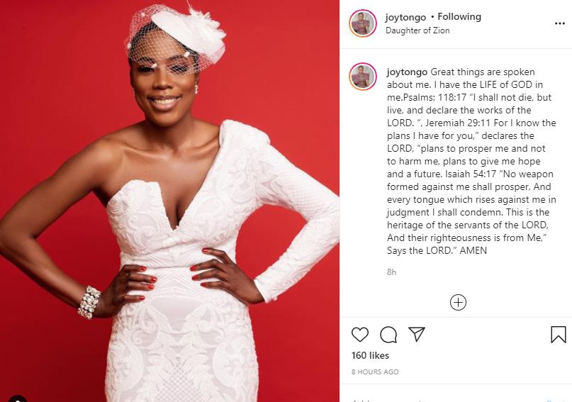 Joy Tongo reacts to Cynthia Morgans RIP post of her