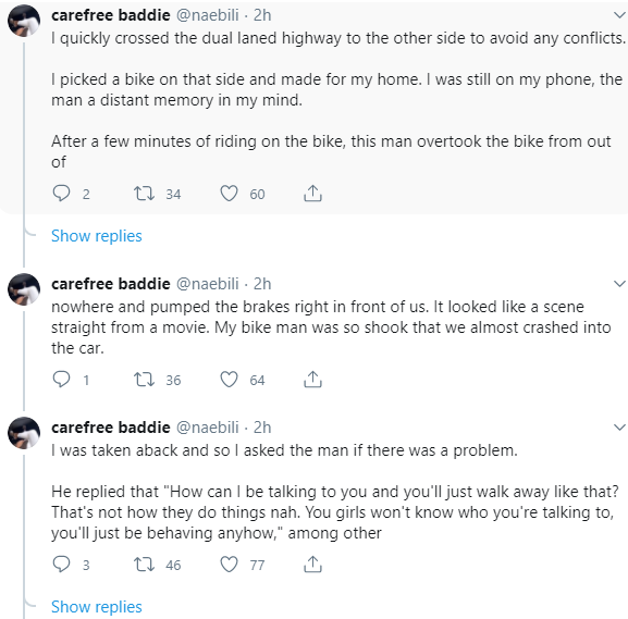 Woman narrates how a stranger allegedly assaulted her when she refused to accept a ride from him
