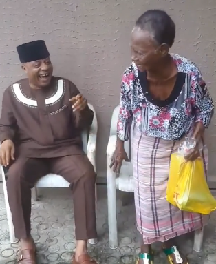 Heartwarming video of veteran singer, Bright Chimezie singing and dancing with his aged mum