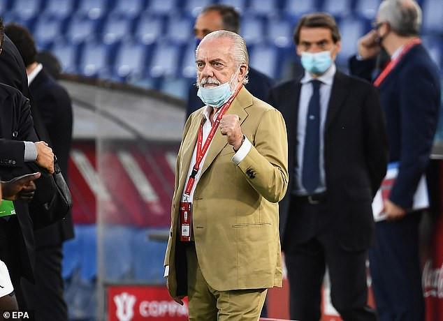 Napoli president, Aurelio De Laurentiis tests positive for Coronavirus after attending a meeting with 20 represetantives?