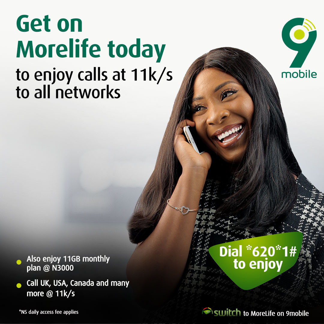 9mobile crashes local and international call rates with Morelife Complete  ? introduces unbeatable data