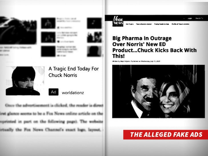 Chuck Norris sues company using his name to sell fake erectile dysfunction drugs