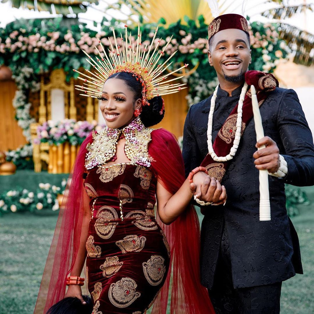 Photos from the traditional wedding of Living in Bondage actor, Jidekene Achufusi