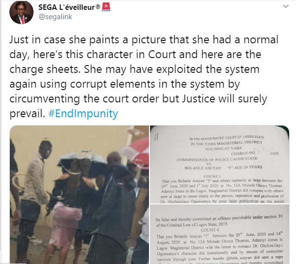 Doctor who fled UK after accusing Twitter influencer Dr Olufunmilayo of rape, arraigned in Lagos