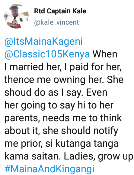 """I paid her dowry hence I own her - Controversial Kenyan Twitter personality says women shouldn"