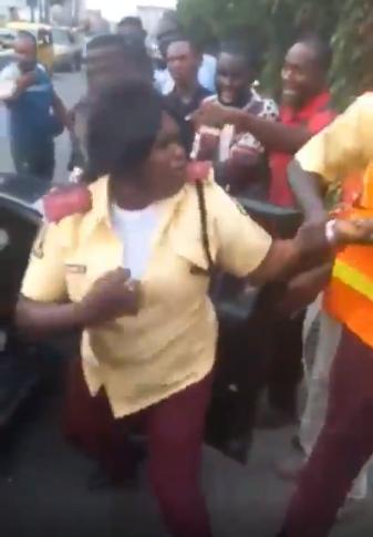 Female LASTMA officer to be investigated for assaulting passenger (video)