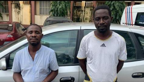 Two suspected mobile phone fraudsters arrested in Lagos (photos)