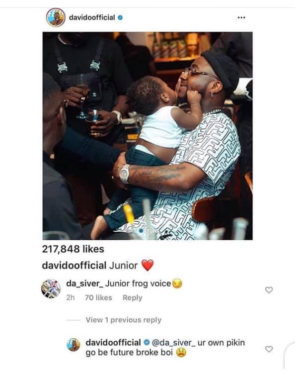 Between Davido and a rude fan...