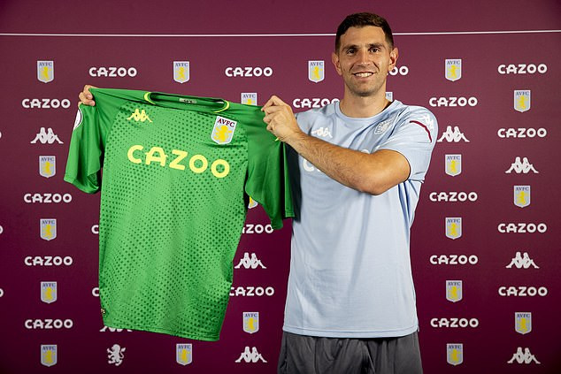 Aston Villa confirm the signing of goalkeeper Emiliano Martinez for ?16m from Arsenal (Photos)