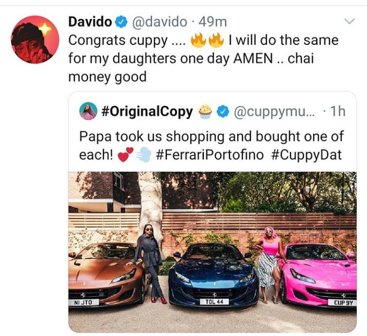 Don Jazzy and Davido promise their kids luxury as they react to Otedola