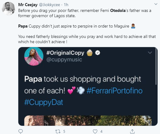 Nigerians compare their fathers to Femi Otedola after he bought three Ferraris for his daughters