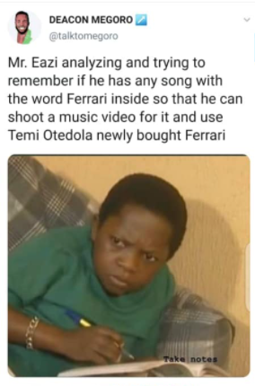 Mr Eazi trends as Nigerians hilariously react to Otedola buying Ferraris for his daughters including his girlfriend,Temi