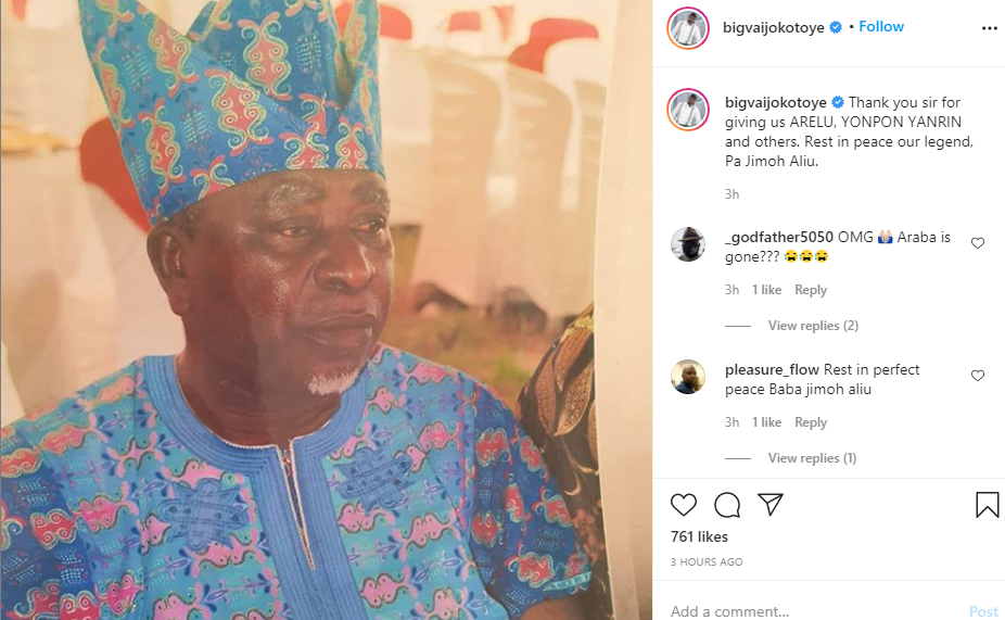 Another Nollywood Actor dead.
