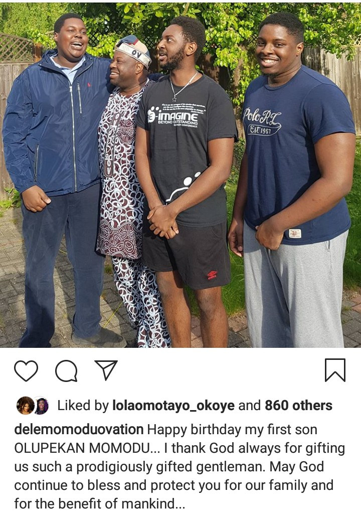Dele Momodu shows off his sons as he celebrates his eldest