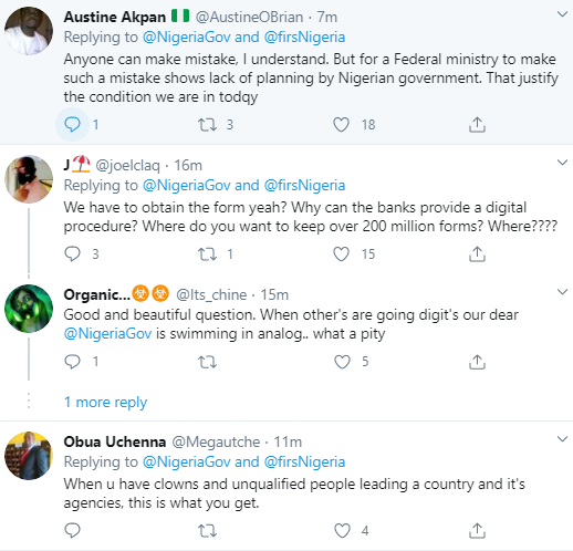 FG apologizes and deletes tweets about bank account owners undergoing compulsory registration after Nigerians expressed outrage