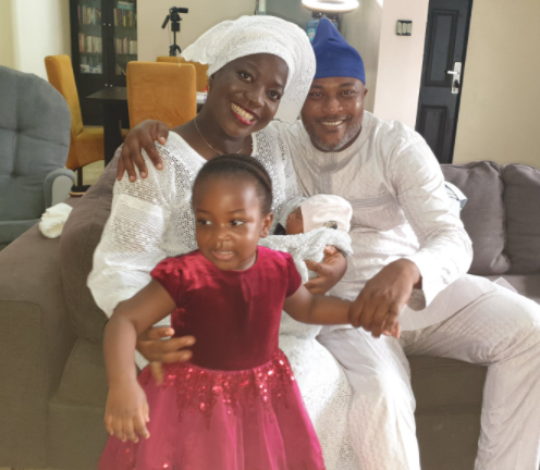 Channels TV presenter, Maupe Ogun, and hubby welcome second child, a girl (photo)