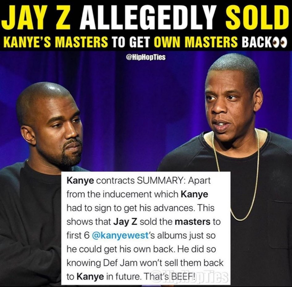 Kanye West reacts to claims Jay Z allegedly sold Kanye