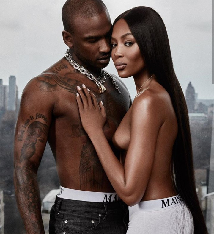 Naomi Campbell celebrates Skepta with topless photos of her bare breasts against his bare chest as he turns a year older