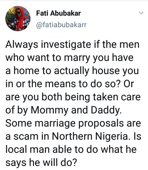 """Some marriage proposals in Northern Nigeria are scams"" - Photographer,  Fati Abubakar advises women to investigate prospective grooms before getting married"