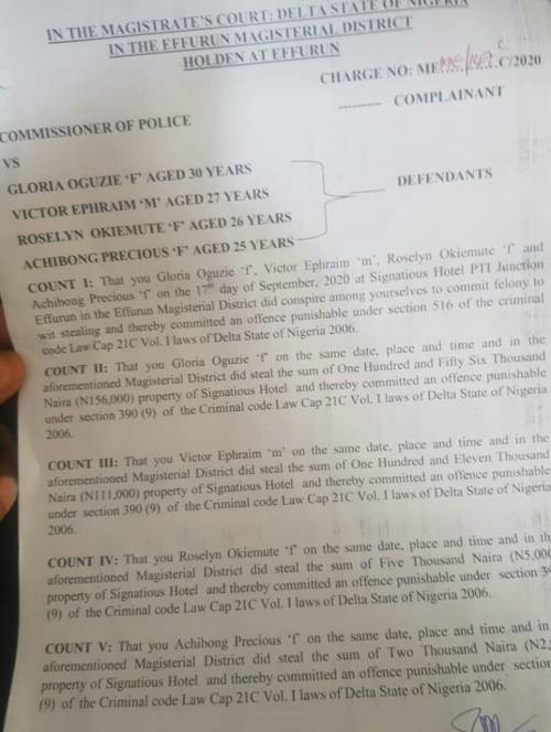 Ex-Nigerian Minister accused of arresting hotel staff and stripping them naked for allegedly stealing N5,000