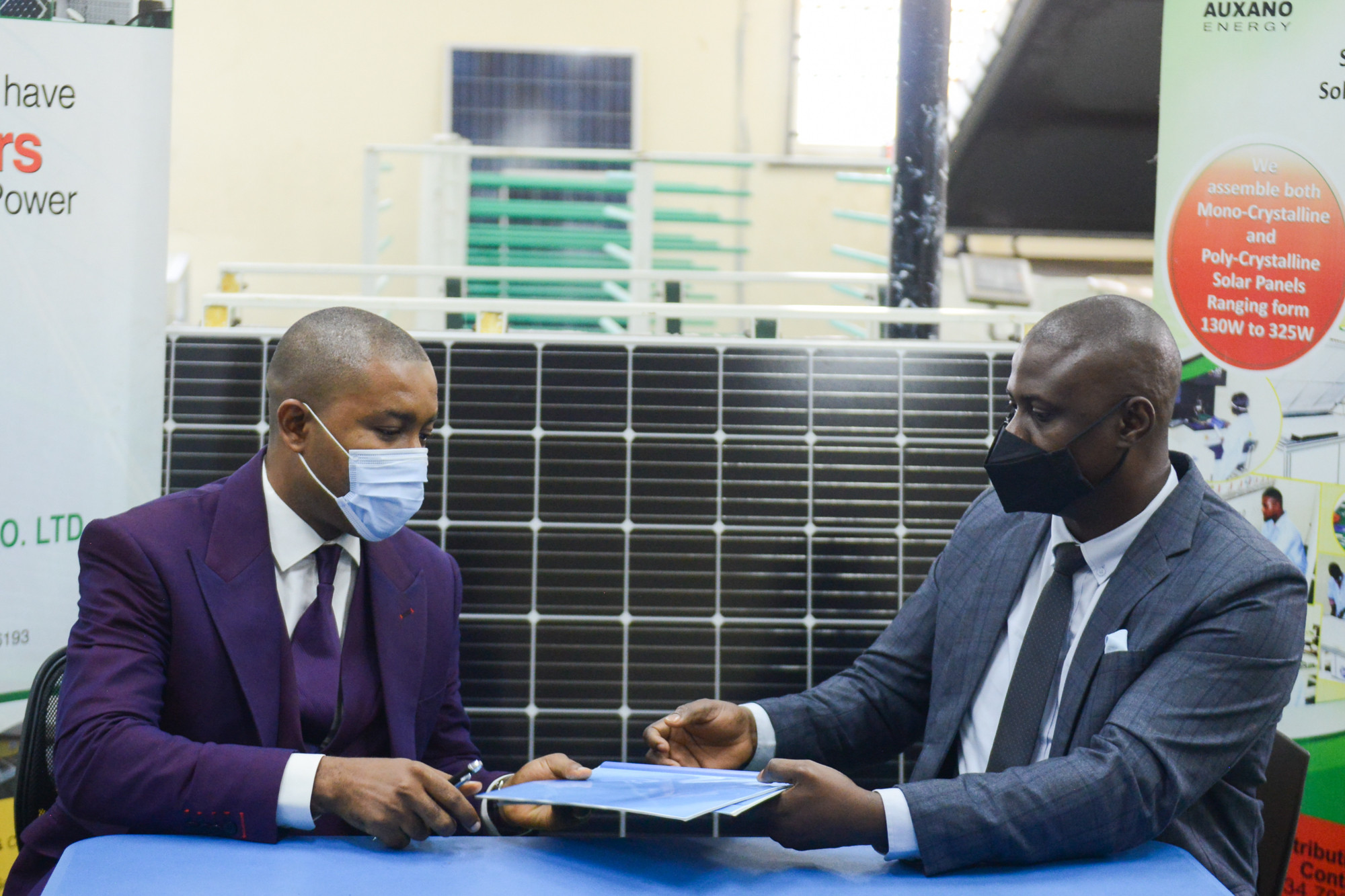 All On and Auxano Solar Nigeria Sign $1.5m Investment Deal for Solar Panel Assembly Plant Expansion lindaikejisblog2