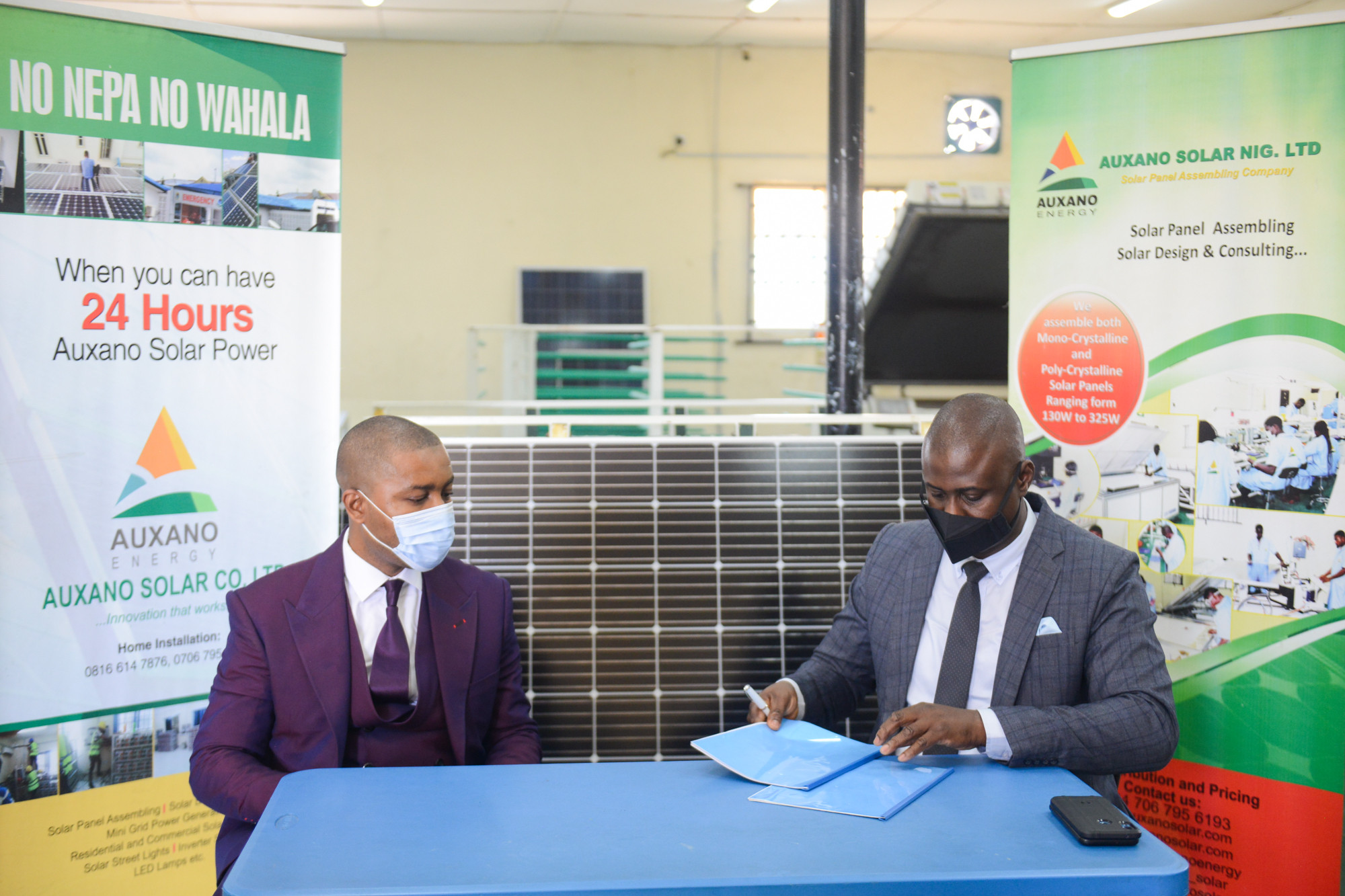 All On and Auxano Solar Nigeria Sign $1.5m Investment Deal for Solar Panel Assembly Plant Expansion lindaikejisblog3