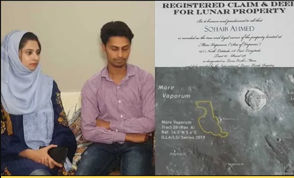 Pakistani man buys land on moon as wedding gift for his wife (Photos)