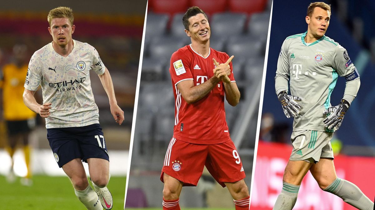 Messi and Ronaldo not on UEFA Player of the Year shortlist as Bayern duo Robert Lewandowski and Manuel Neuer compete with Man City