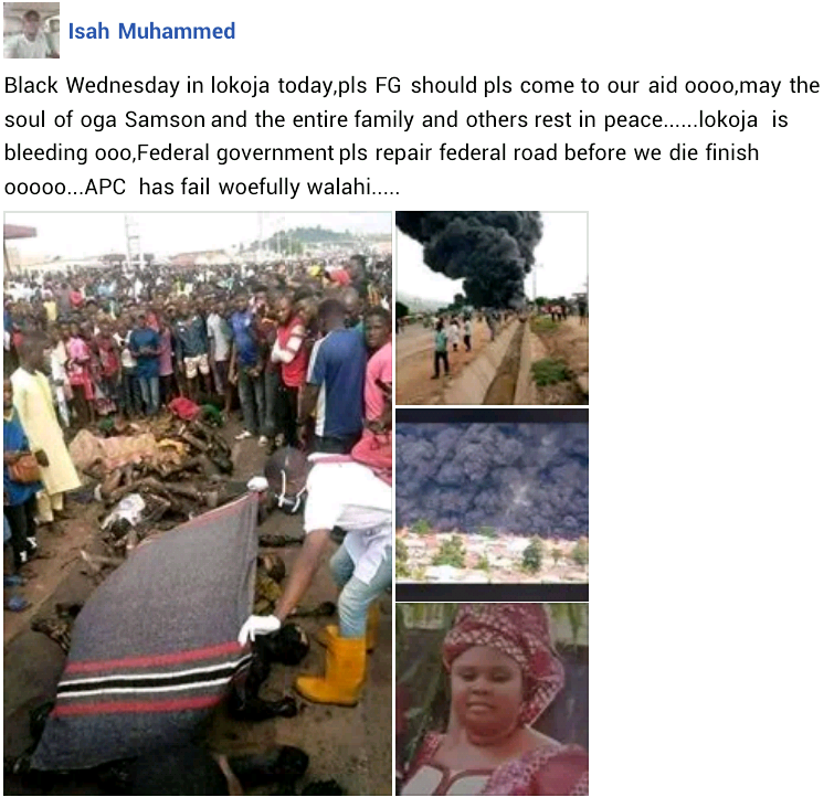 Kogi Tanker Explosion: Photo of woman killed alongside her husband and three children