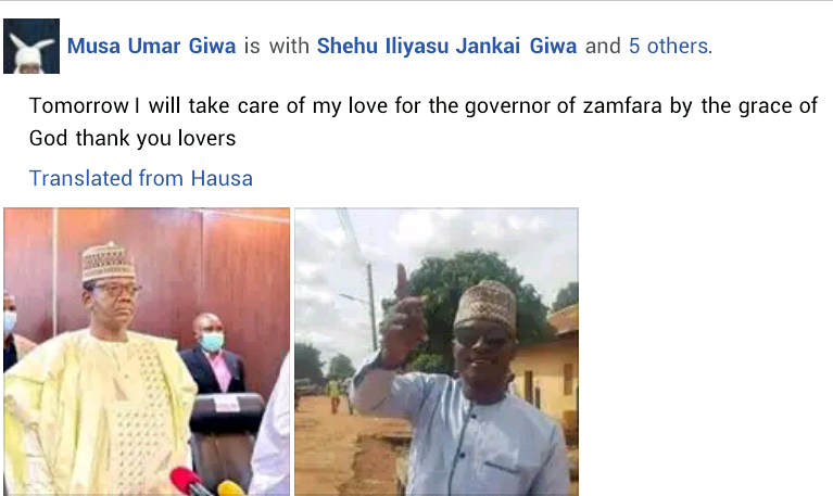 Man begins trek from Kaduna to Zamfara in solidarity with Governor Matawalle