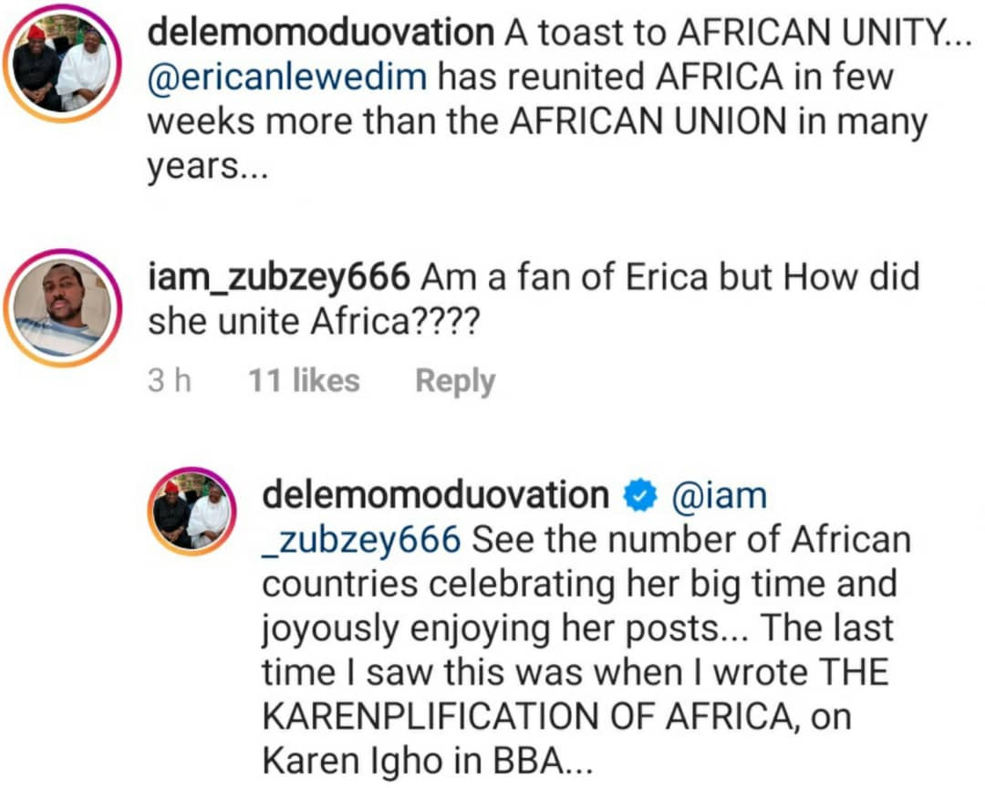 Erica has reunited Africa more than the African Union has done in years ?  Dele Momodu