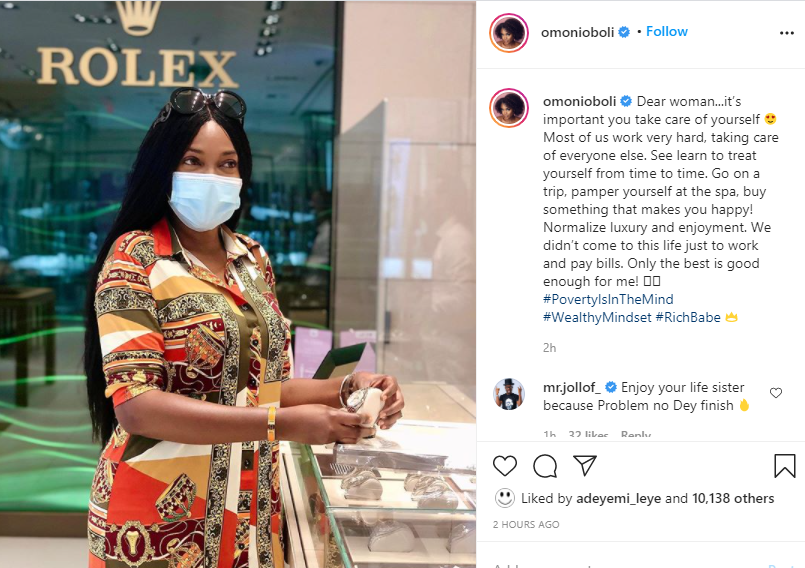 Normalize luxury and enjoyment, we didn?t come to this life just to work and pay bills - Omoni Oboli tells women