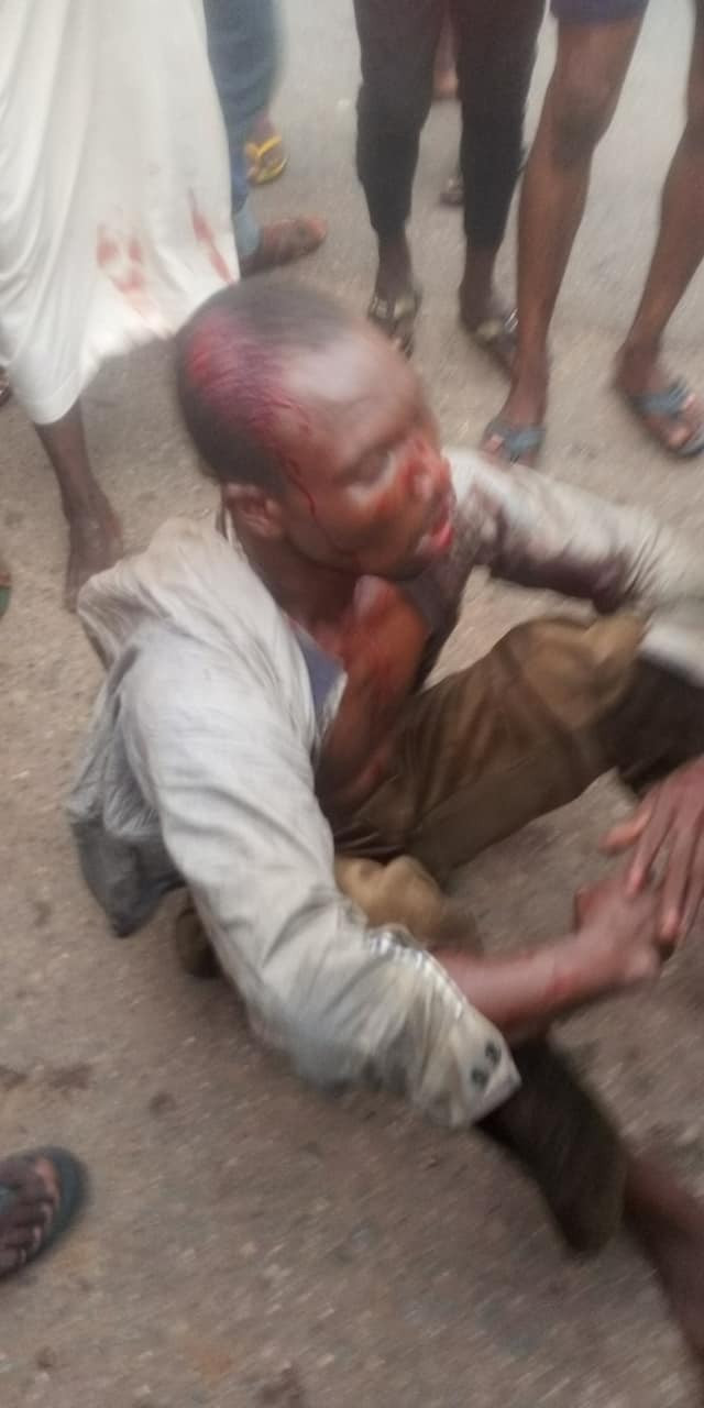 Suspected goat thief nabbed and  beaten to pulp in Abuja
