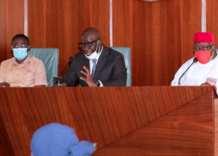 I have no plans to return to APC- Governor Obaseki says as he visits Buhari after his re-election