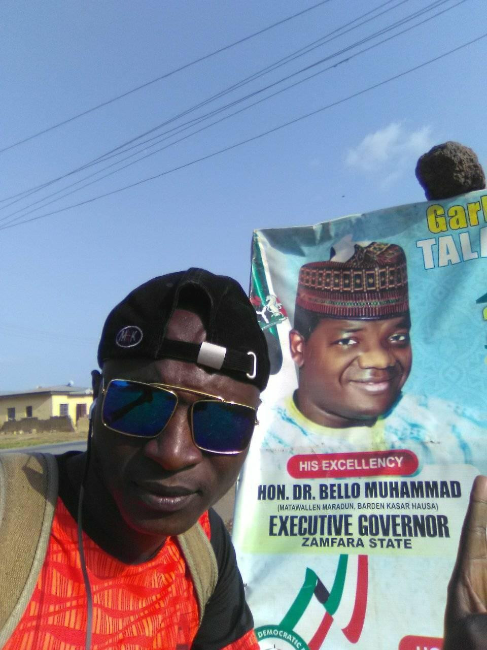 """Channel your energy into a more productive activity""  - Governor Matawalle stops man trekking from Kaduna to Zamfara for him"
