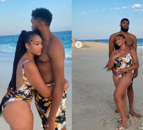 Jordyn Woods, 23, goes Instagram official with her new boo Karl-Anthony Towns, 24 ( photos)