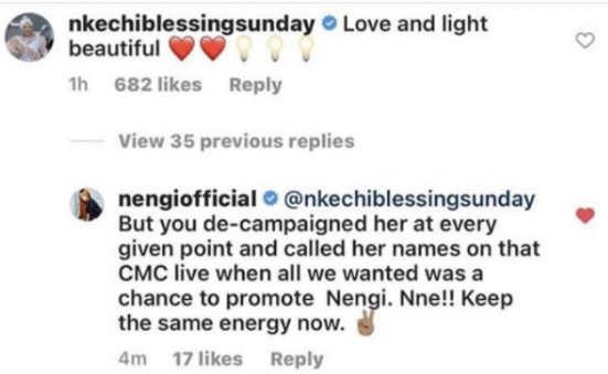 Nengi's Management Drags Nkechi Blessing For Being Two-faced