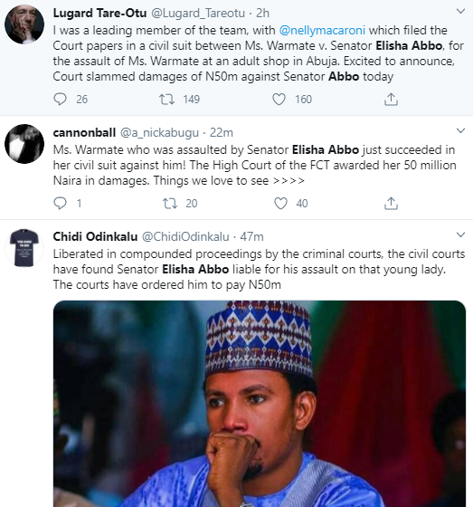Court orders senator Elisha Abbo to pay N50 million for assaulting a nursing mother in a sex toy store