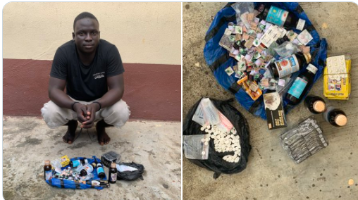 Police arrest man who peddles contraband drugs at Lagos bus-stop